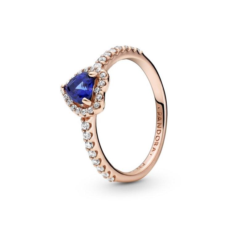 Prsten Třpytivé modré vyvýšené srdce, Pandora, prodává Pandora, 2199 Kč