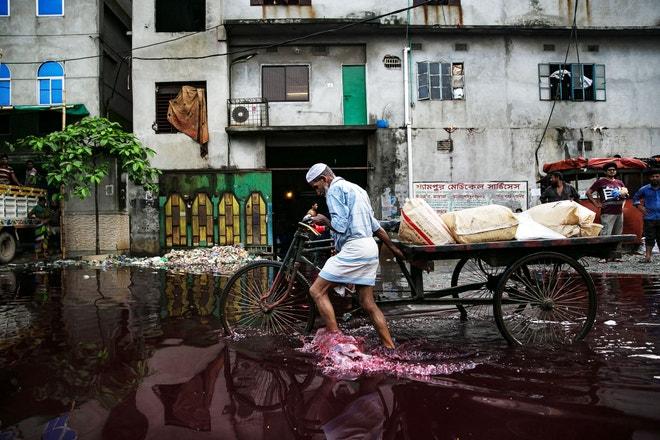 Znečištěné vody v Bangladéši