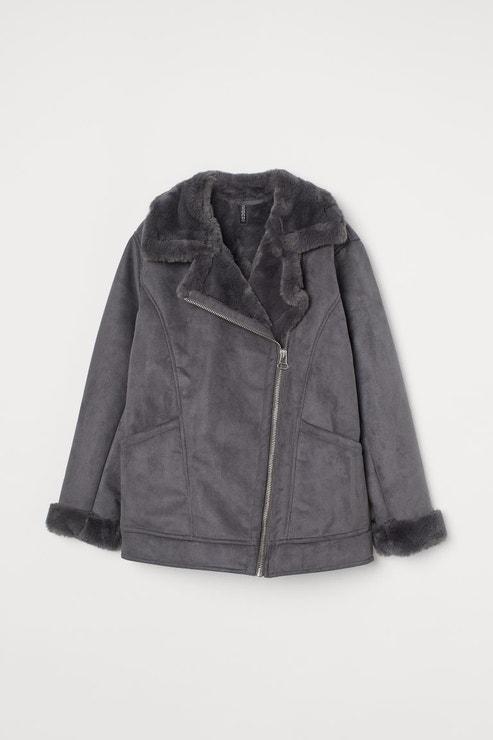 Bunda s umělou kožešinou, H&M, prodává H&M, 1499 Kč