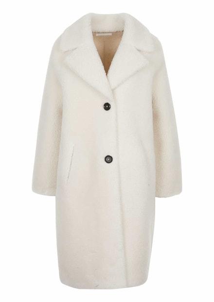 Bílý oboustranný kabát z plyše Teddy, s.Oliver, 3999 Kč