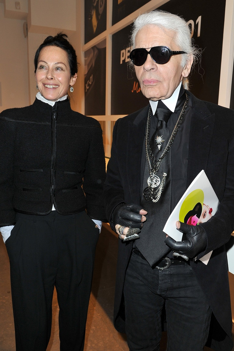 Amanda Harlech a Karl Lagerfeld
