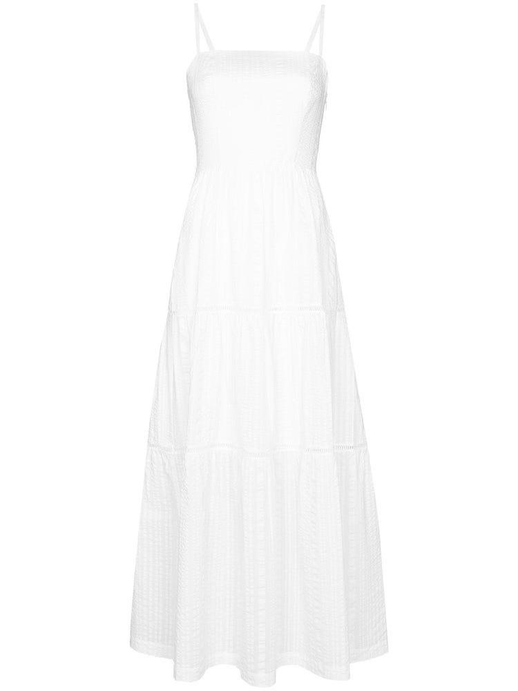Bílé maxi šaty na špagetová ramínka, HEIDI KLEIN