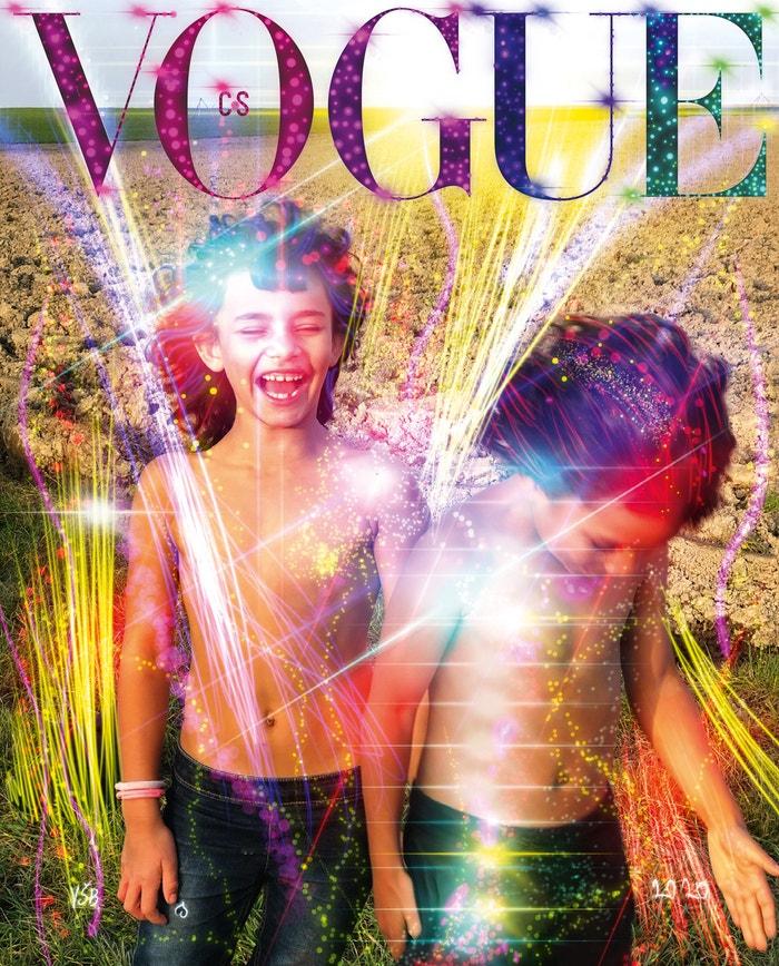 Limitovaná obálka Děti pro nové časy Hugo a Johannka, 2020, Vogue CS, k dostání pouze na Vogue.cz, 299 Kč