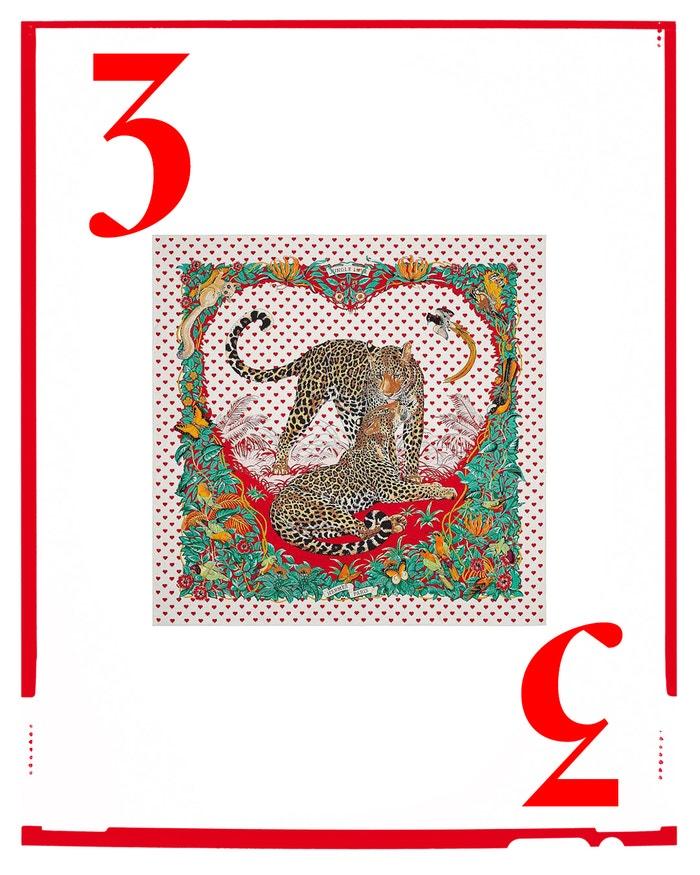 Hedvábný šátek Jungle Love, HERMES, 9900 Kč