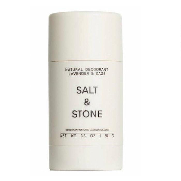 Veganský tuhý deodorant s vůní levandule a šalvěje, SALT & STONE, prodává Biosophy, 540 Kč