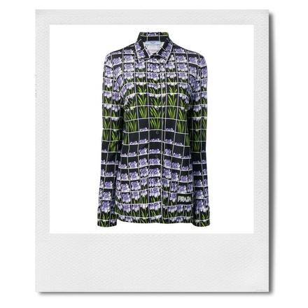 Košile s květovaným potiskem, Prada, prodává Farfetch, 884 €