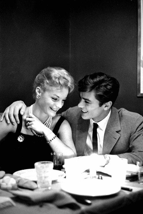 Alain Delon a Romy Schneider v Paříži, říjen 1958