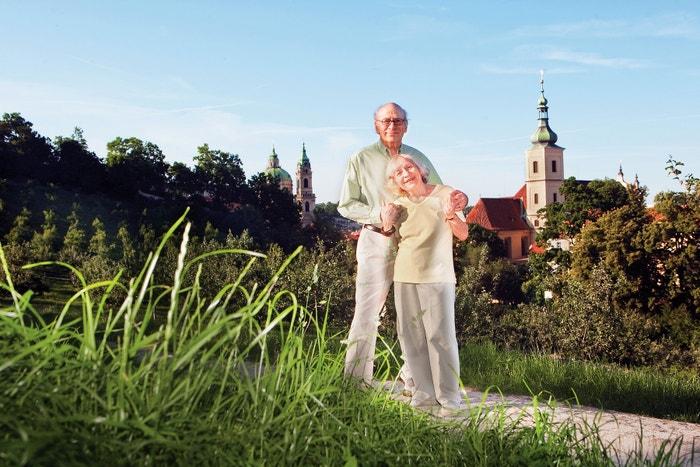 Gene Deitch s manželkou Zdenkou