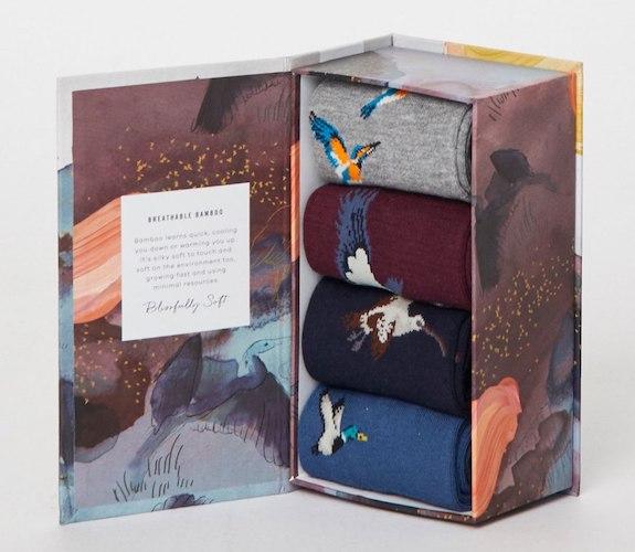 Dárkový box s ponožkami Waterfowl z bambusové viskózy, biobavlny a recyklovaného polyesteru, THOUGHT, prodává Nila, 790 Kč