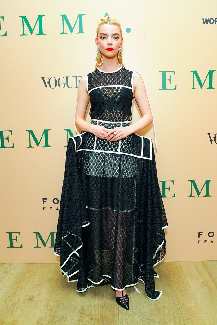 Wearing Loewe at a special screening of Emma in New York on February 4.