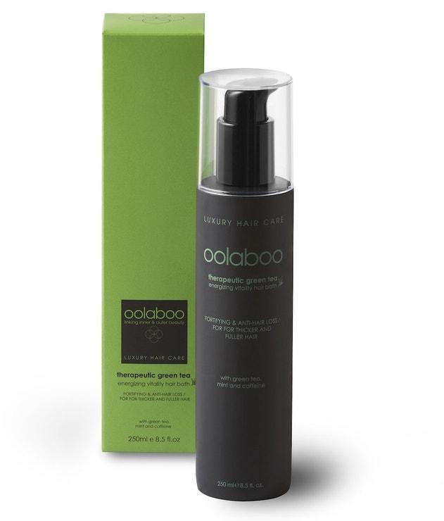 Osvěžující vlasová lázeň na bázi zeleného čaje a máty Energizing Vitality Hair Bath, OOLABOO, prodává Oolaboo.cz, 1160 Kč