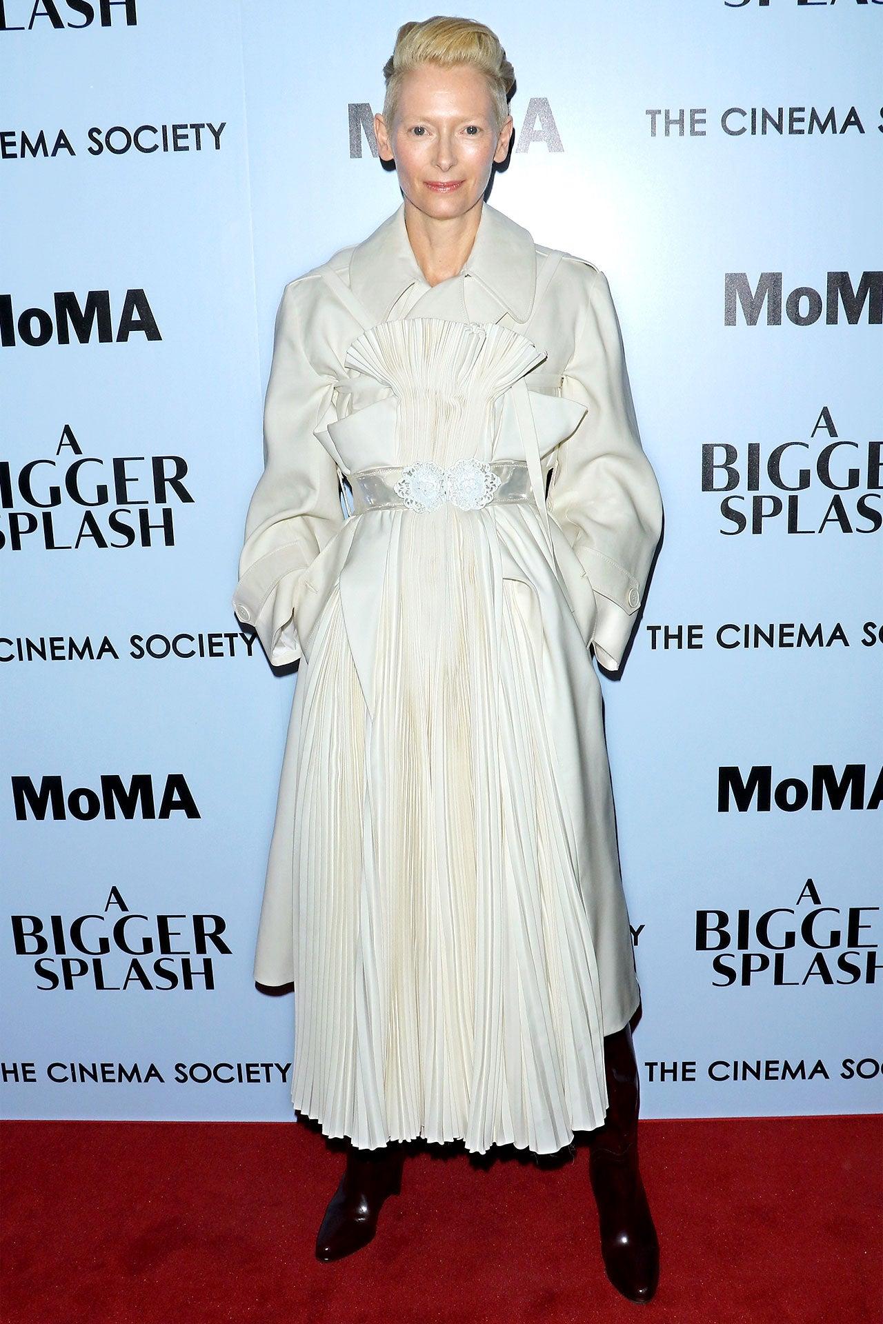 Tilda Swinton na premiéře filmu A Bigger Splash, duben 2016    Autor: Jim Spellman/WireImage