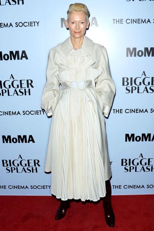 Tilda Swinton na premiéře filmu A Bigger Splash, duben 2016