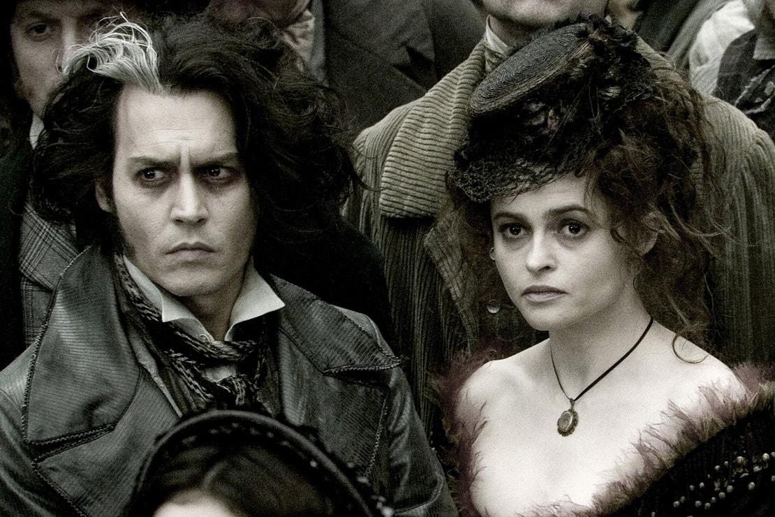 Helena Bonham Carter a Johnny Depp ve filmu Sweeney Todd: Ďábelský holič z Fleet Street, 2007