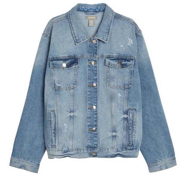 Džínová bunda ze zodpovědně pěstované bavlny, Lindex, prodává Lindex.com, 999 Kč