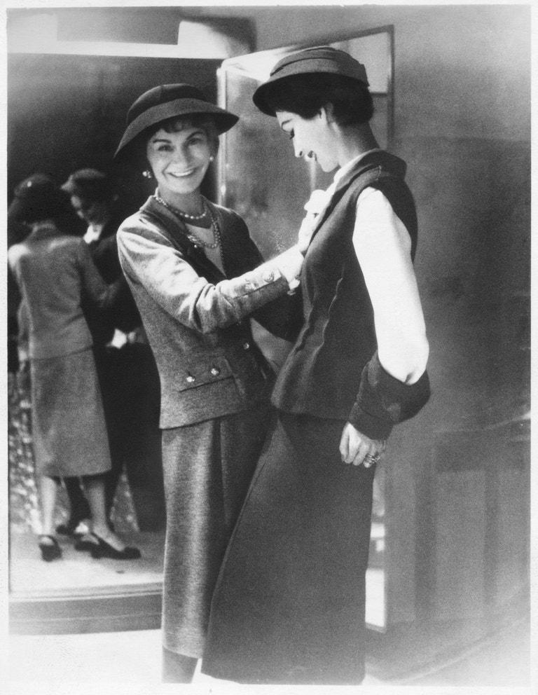 Coco Chanel v roce 1954