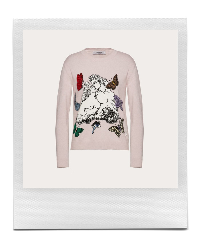 Undercover inlay wool and cashmere jumper, Valentino, sold by Valentino, 1,100 EUR