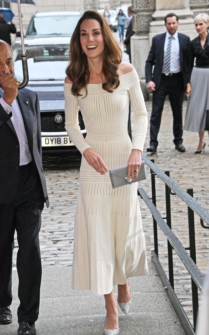 Vévodkyně z Cambridge v Somerset House v Londýně, 11. června 2019