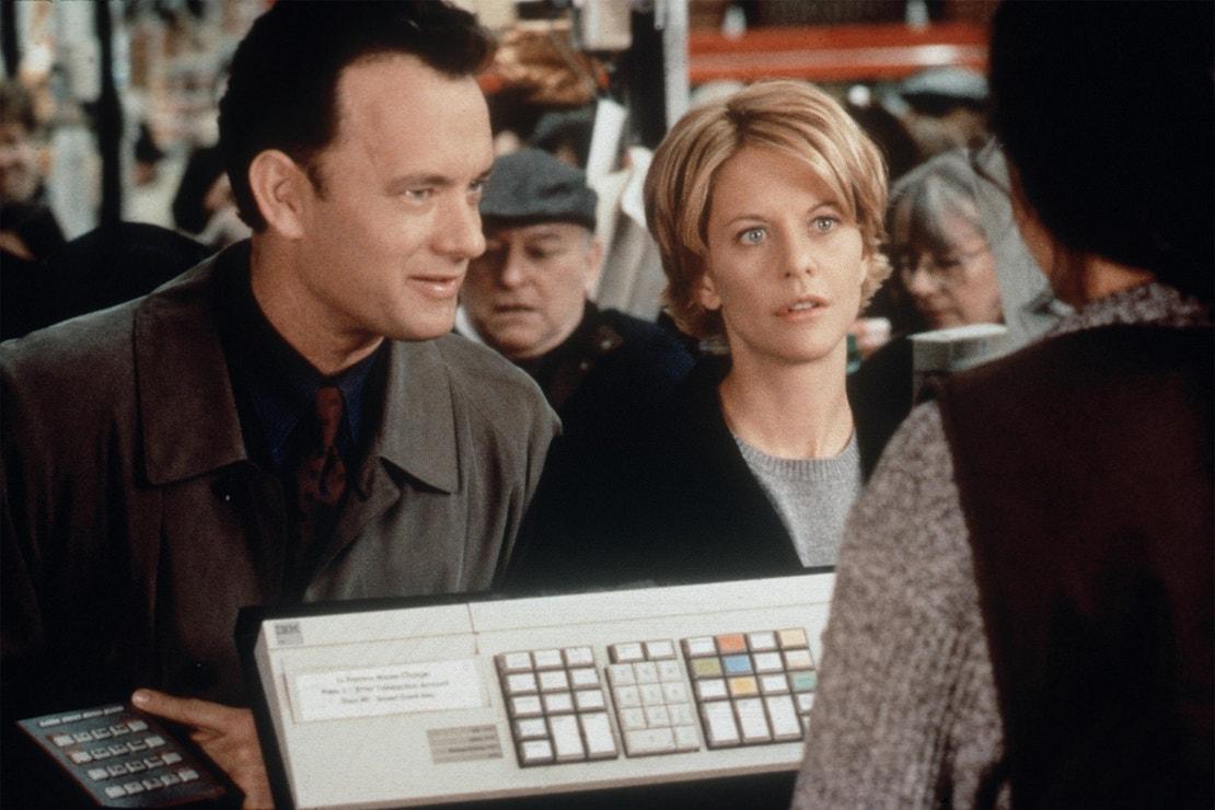 Meg Ryan a Tom Hanks ve filmu Láska přes internet, 1998