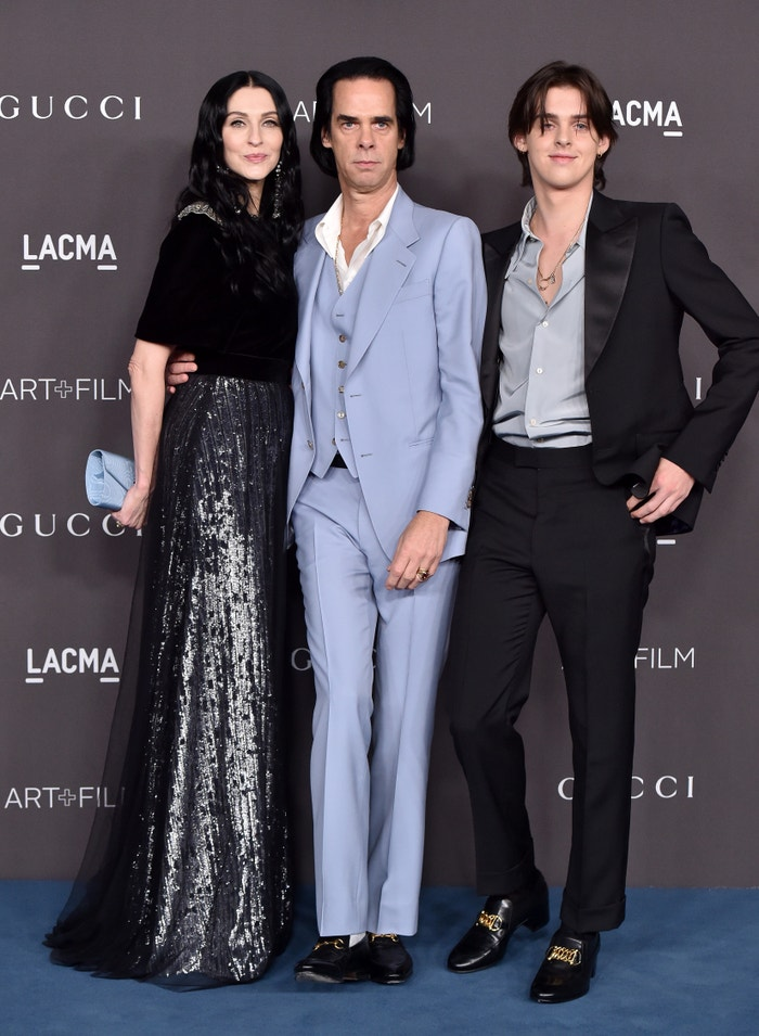 Susie, Nick & Earl Cave, all in Gucci, 2019 LACMA Art + Film Gala Presented By Gucci Autor: Axelle/Bauer-Griffin/FilmMagic