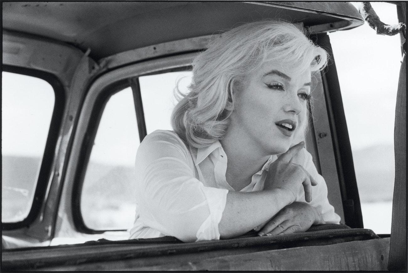 Marilyn Monroe při natáčení filmu Mustangové, 1960