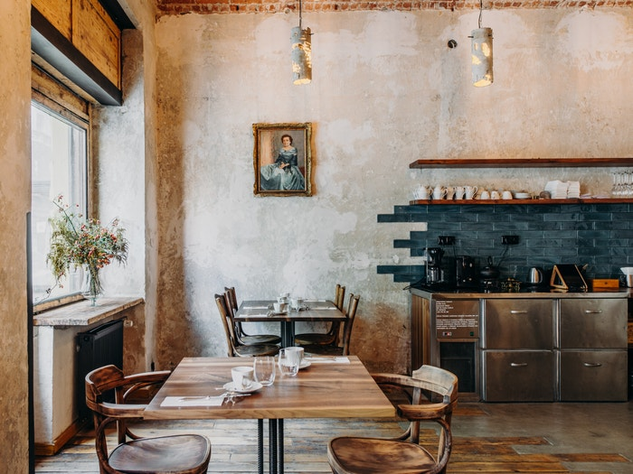 Interiér restaurace Bockem