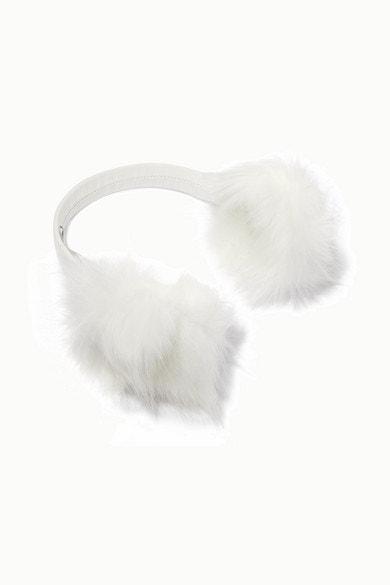 Zateplené klapky na uši z umělé kožešiny, Eugenia Kim, prodává Net-a-Porter, 219 €