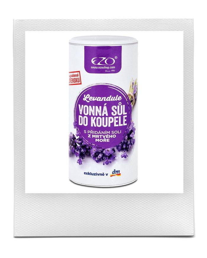 Sůl do koupele Levandule, EZO, prodává DM, 149 Kč