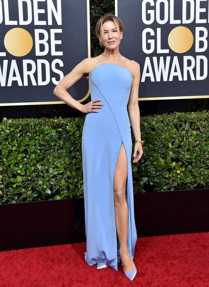 """Renée Zellweger (nominated for her role as Judy Garland in """"Judy"""") in Armani at the Golden Globes. Autor: Getty Images"""