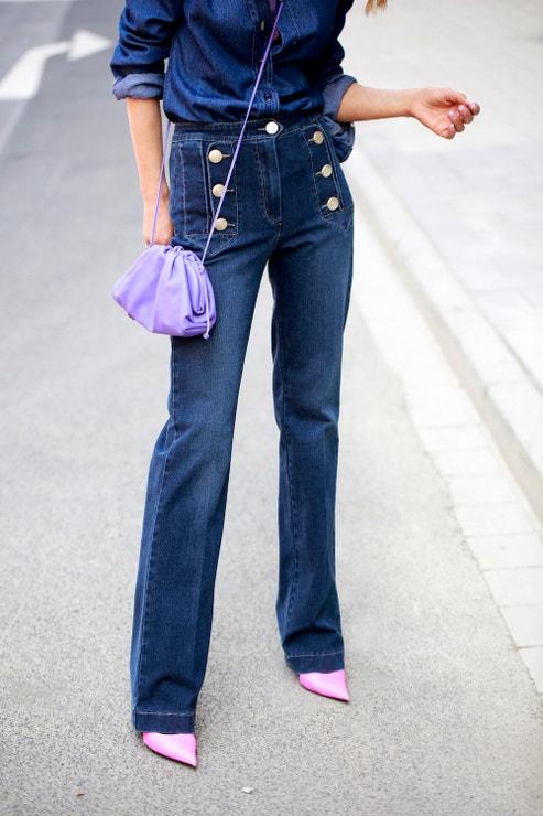 Street style 2020: Kalhoty do zvonu
