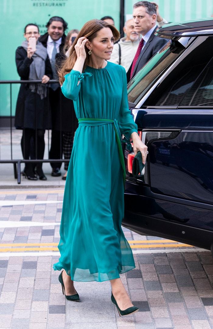 Vévodkyně z Cambridge na návštěvě  Aga Khan Centre, říjen 2019