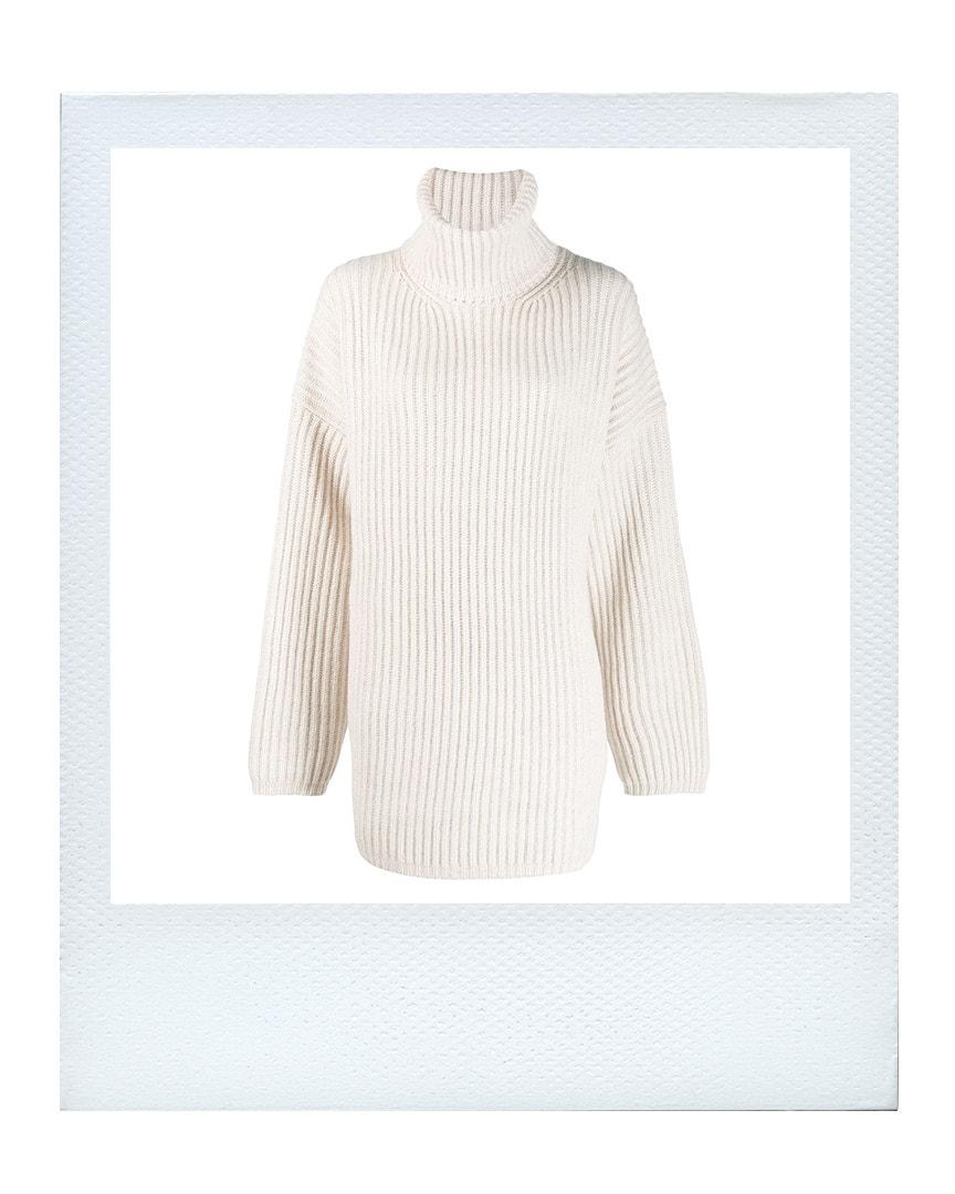 Dlouhý svetr, Acne Studios  prodává Farfetch, 390 €