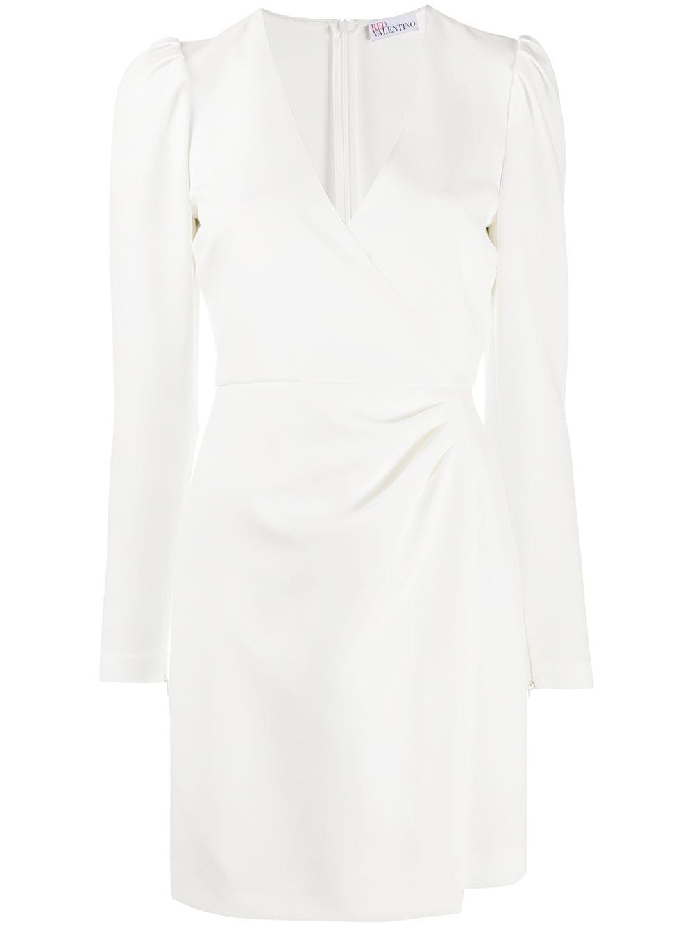 Bílé zavinovací šaty, REDVALENTINO
