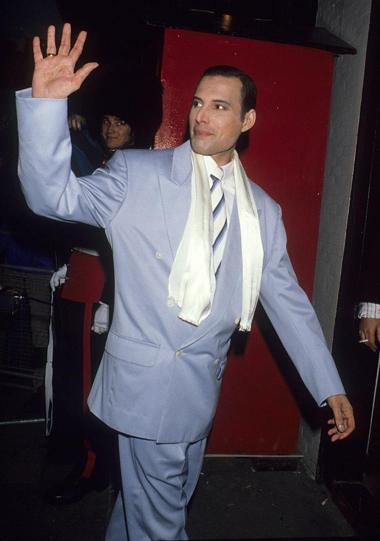 Freddie Mercury na svém posledním veřejném vystoupení, 29. srpna 1990