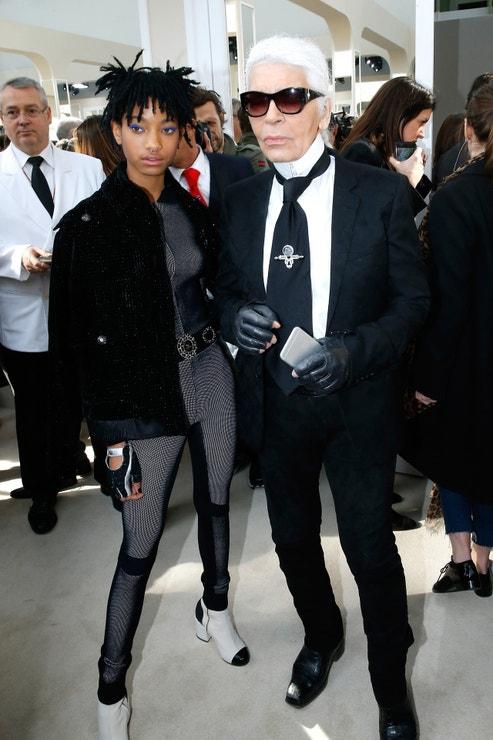 S Willow Smith na přehlídce Chanel podzim - zima 2016/2017  v pařížském Grand Palais, březen 2016