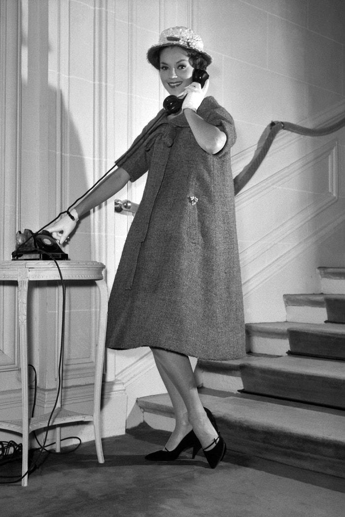 Model Yves Saint Laurent, kolekce Dior 1958 Autor: AFP/Getty Images
