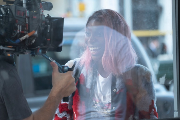 Michaela v roli Anabelle během natáčení Můžu tě zničit