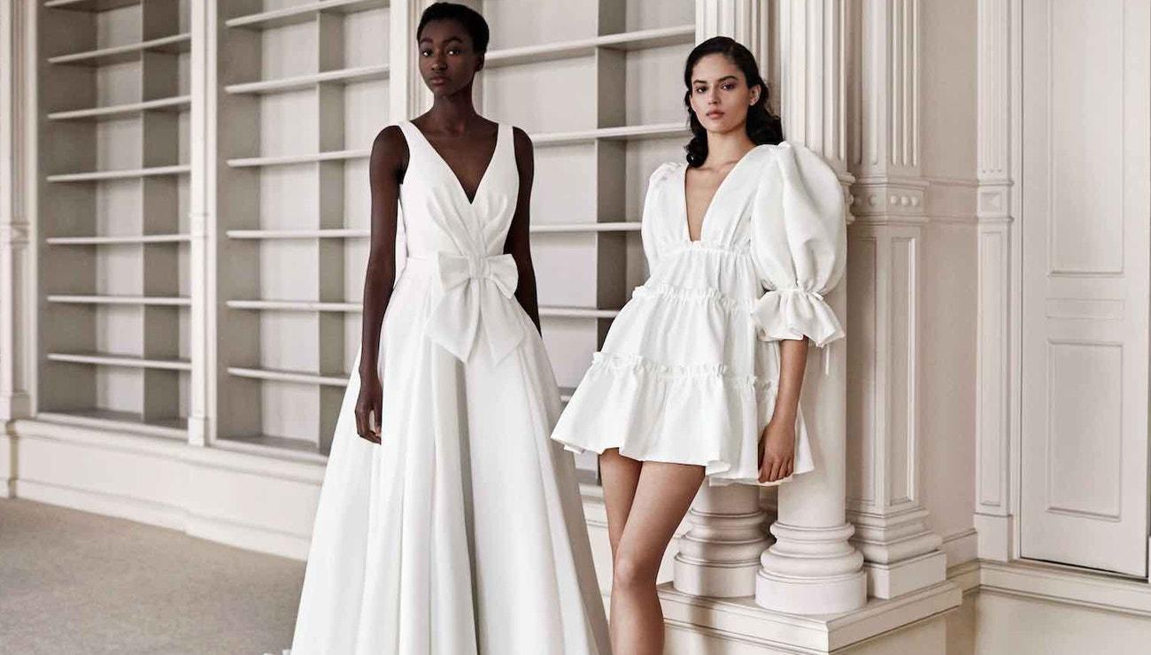 Svatební šaty na jaro 2021 pro romantické minimalistky