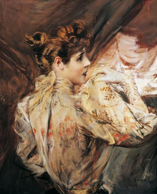 Portrét Eleonory Duse, Giovanni Boldini, circa 1895, soukromá sbírka
