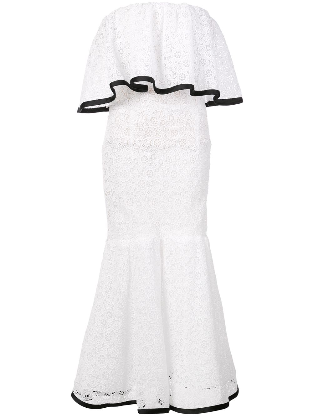 Krajkové šaty bez ramínek, CAROLINA HERRERA