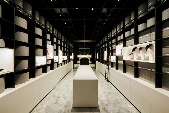 Místnost na doplňky v Dior Heritage