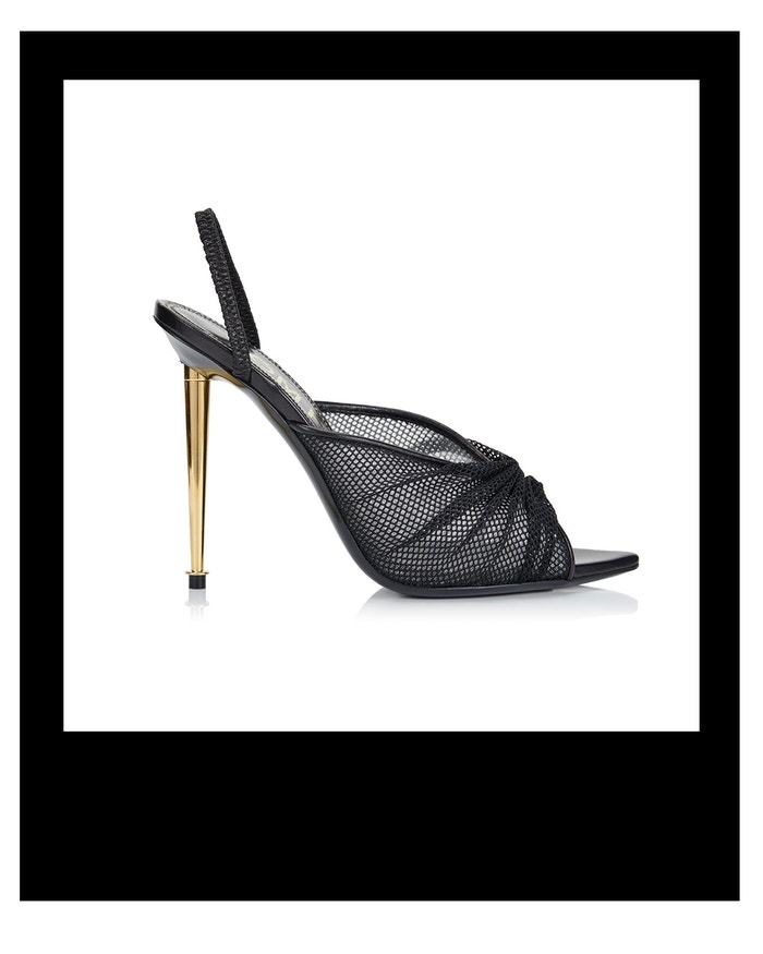 Sandálky se zlatým podpatkem, Tom Ford, prodává Tom Ford, € 1 350  Autor: Archiv firmy