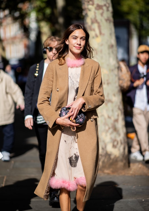 Alexa Chung na London Fashion Week, září 2018