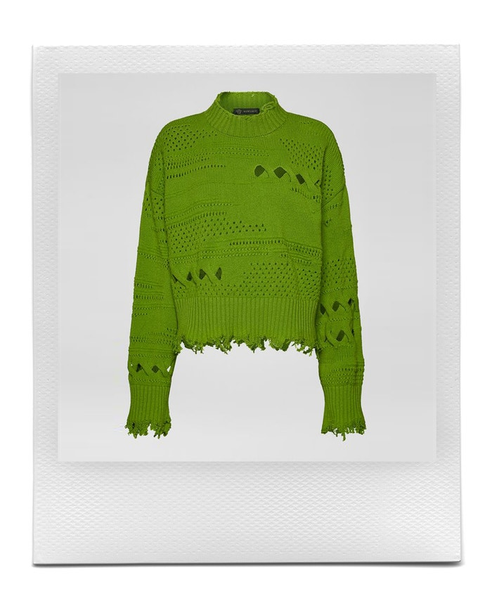 Distressed Wool Sweater, Versace, sold by Versace, 990 EUR