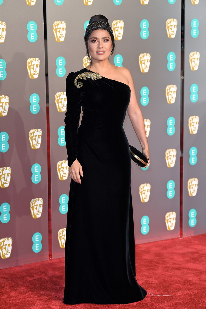 Salma Hayek, British Academy Film Awards, Royal Albert Hall, únor 2019