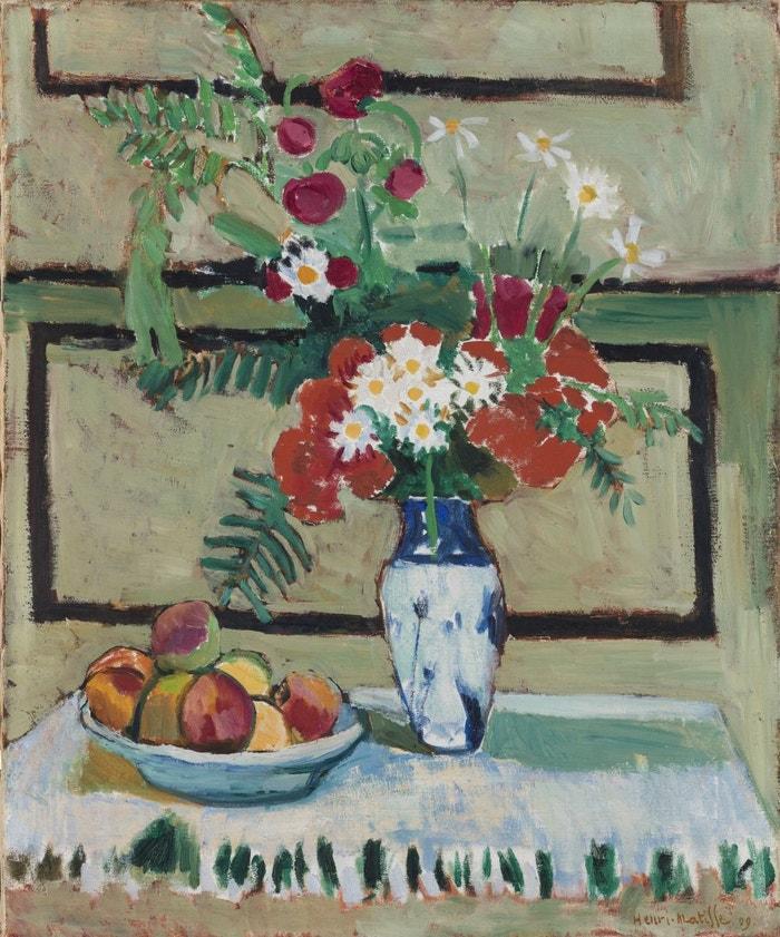 Henri Matisse, Květiny a ovoce, 1909, ze sbírky Ordupgaard v Kodani