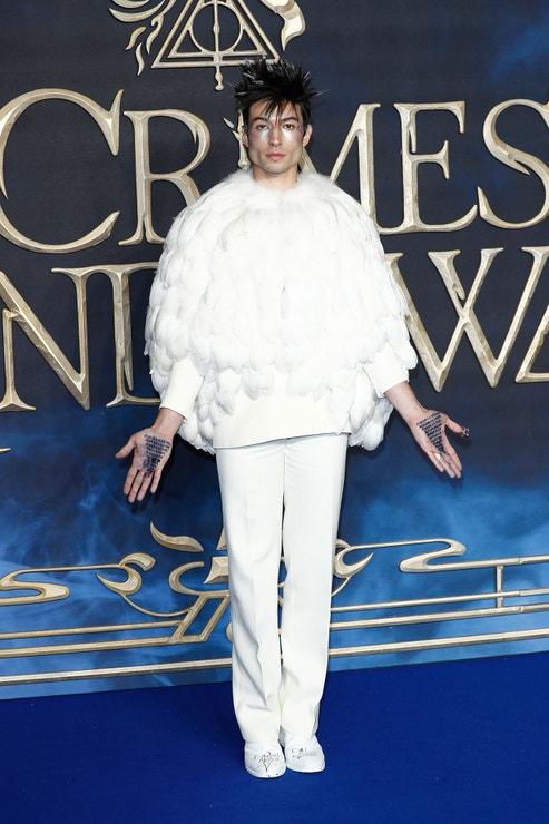 Ezra Miller, Fantastická zvířata: Grindelwaldovy zločiny, premiéra ve Velké Británii