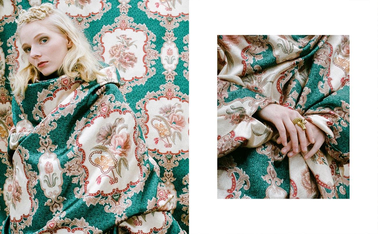šaty, Jennifer Milleder; prsten, Bootik54.