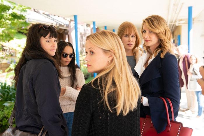 Reese Witherspoon, Laura Dern, Zoë Kravitz, Shailene Woodley a Nicole Kidman v seriálu Sedmilhářky
