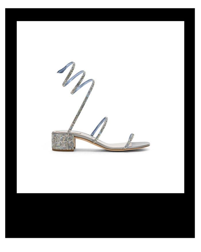 Sandálky s řemínkem zdobeným štrasem, René Caovilla, prodává René Caovilla, € 738 Autor: Archiv firmy
